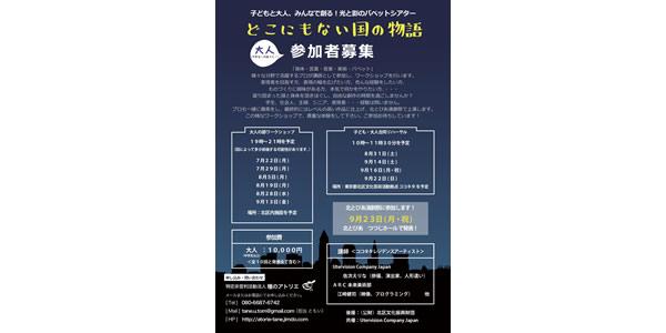 北とぴあ演劇祭参加作品出演者募集