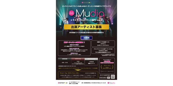 オーディエンス参加型ライブグランプリ「Mudia」トラックパフォーマンス部門vol.2
